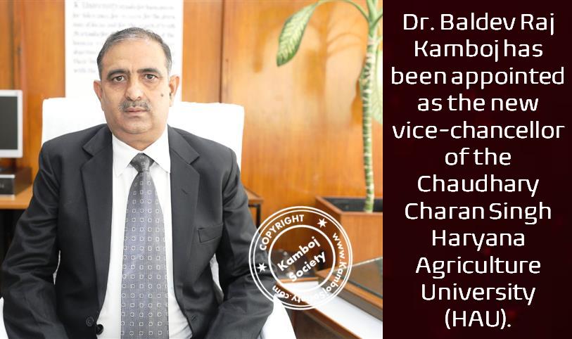 Dr Baldev Raj Kamboj - new vice-chancellor of Chaudhary Charan Singh, HAU