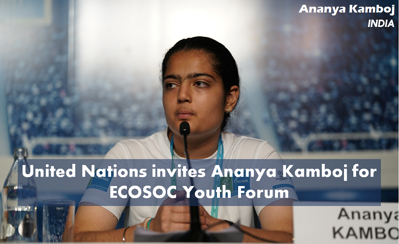 United Nations invites Ananya Kamboj for ECOSOC Youth Forum