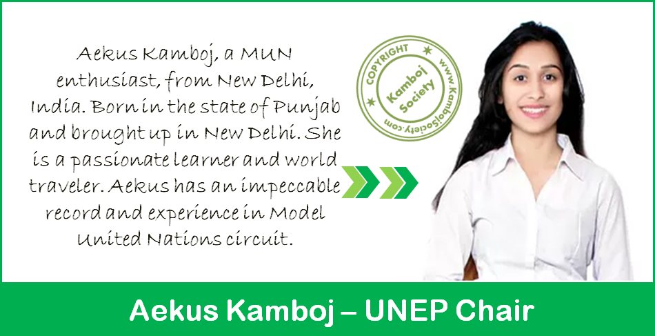 Aekus Kamboj - UNEP Chair