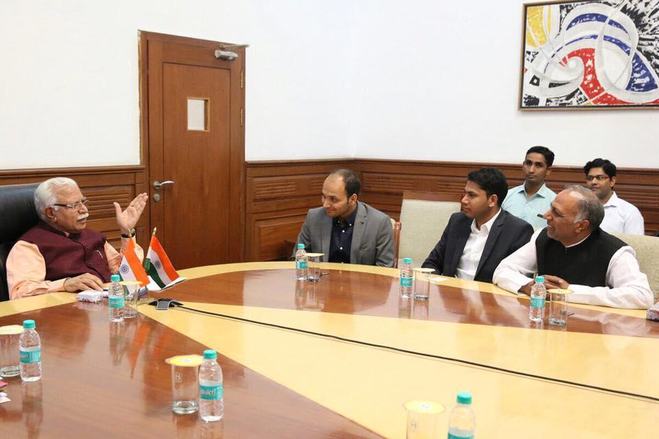 Kapil Kamboj and Rahul Kamboj met CM Haryana Manohar Lal Khattar in Chandigarh
