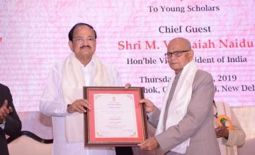 Dr. Jiya Lal Kamboj received Presidential Award for Certificate of Honour and Maharshi Badrayan Vyas Samman