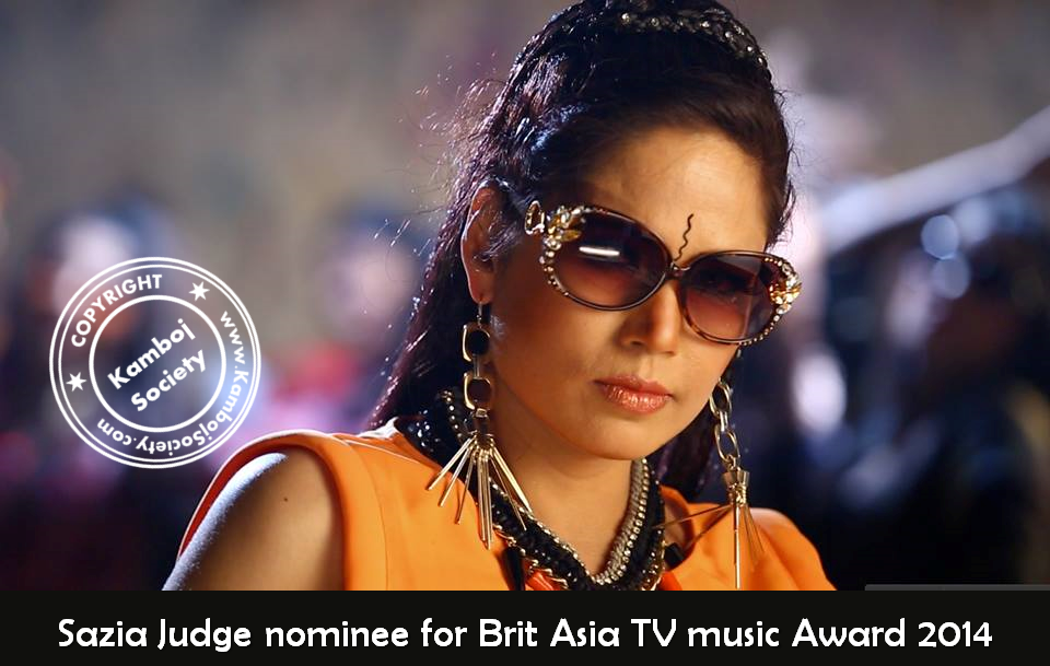 Sazia Judge nominee for�Brit Asia�TV music Award 2014