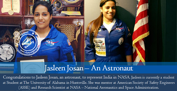 Jasleen Josan represents country in NASA