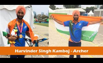 Asian Para Games 2018: Harvinder Singh Kamboj wins gold in archery