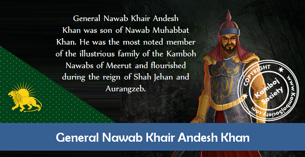 General Nawab Khair Andesh Khan Kamboh