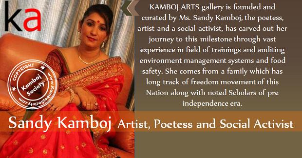 Sandy Kamboj - Artist, Poetess and Social Activist