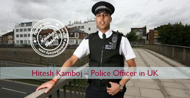 Hitesh Kamboj - Life-saving officer to be commended