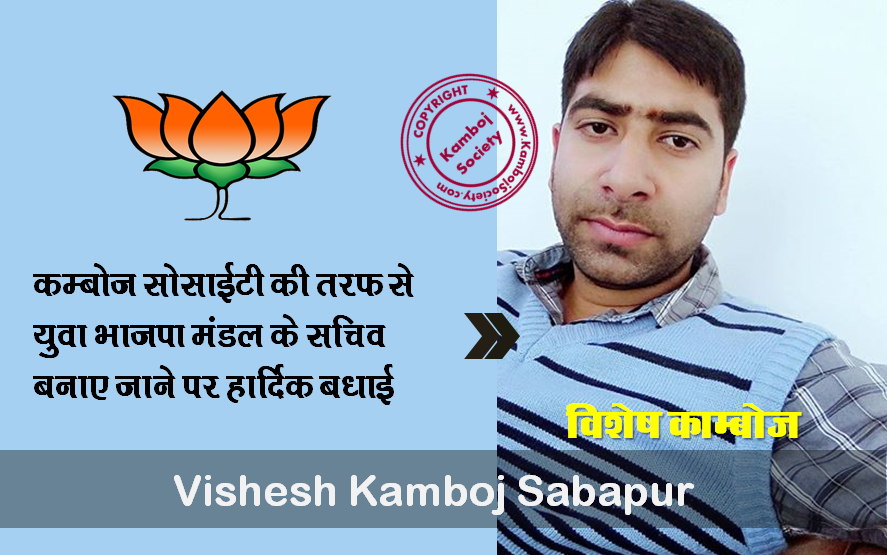 Vishesh Kamboj Sabapur elected as Secretary of  Yuva BJP Mandal