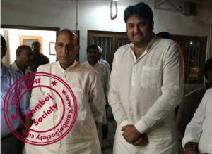 Mohit Kamboj with Rajnath Singh