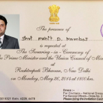 Mohit Kamboj will attend the swearing-in ceremony of Narender Modi.