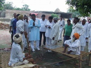 Ami Chand Kamboj with people of Indri