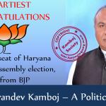 Karandev Kamboj won Indri seat