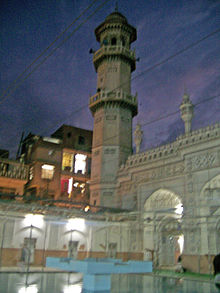 Mahabat Khan Mosque at night