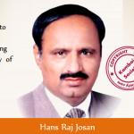 Hans Raj Josan elected as General Secretary of Punjab Pradesh Congress Committee