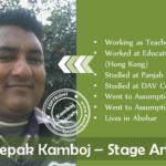 Deepak Kamboj – Stage Artist