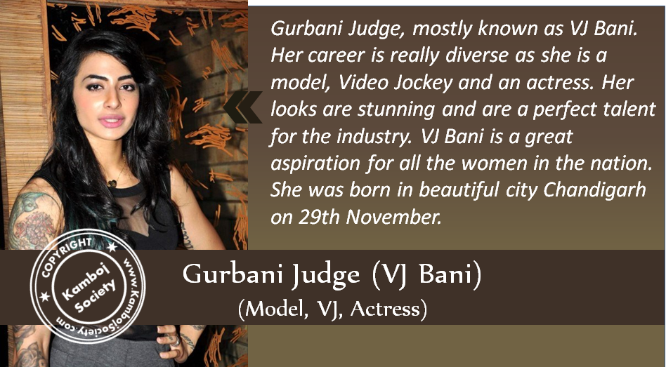 Gurbani Judge – VJ Bani – Actress, Model, VJ, Fitness Freak