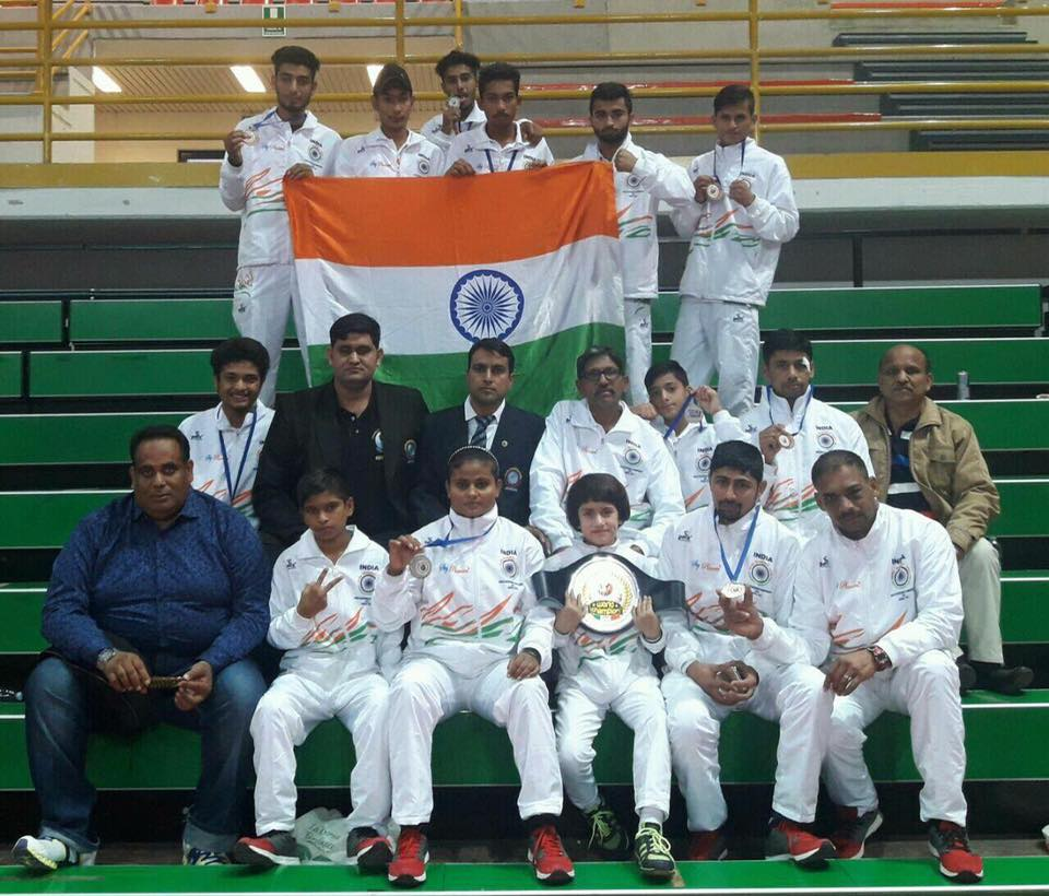Indian Team in World Kickboxing Championship in Italy.