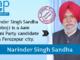 Narinder Singh Sandha - AAP candidate from Ferozepur city.