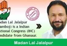 Madan Lal Jalalpur - Congress Candidate from Ghanaur
