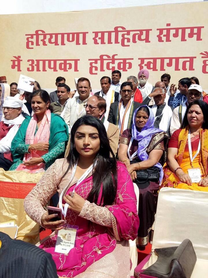 Rupinder Handa at Haryana Punjabi Sahitya Academy.