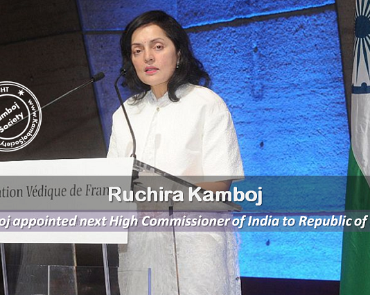 Ruchira Kamboj appointed next High Commissioner of India to Republic of South Africa