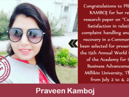 Praveen Kamboj – Senior Research Fellow at Punjabi University